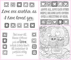 coloring bible verse love coloring