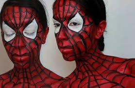 paint man spiderman face paint halloween makeup spider man face paint