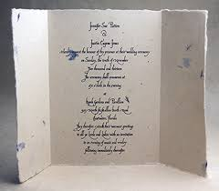 paper invitations folding handmade invitations handmade paper card 7x10 gate fold