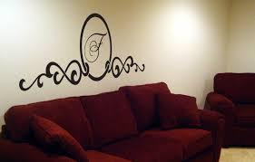 script monogram headboard beautiful wall decals
