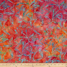 bali chop scrolly floral batik fabric hyacinth favorite