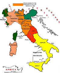 Map Of Florence Italy Unification Of Italy