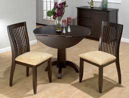 Unfinished Bistro Table Kitchen Table Round Drop Leaf Wood Extendable 2 Seats Unfinished