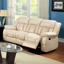 ivory leather reclining sofa furniture of america barbado ivory reclining sofa barbado