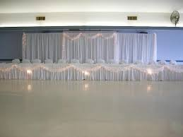 Pipe And Drape Hire Like The Pipe And Drape Backdrop And Lighted Tulle On Table
