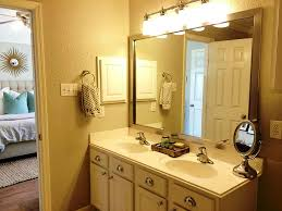 Framed Bathroom Mirrors Wonderful Brushed Nickel Bathroom Mirror Inspiration Home Designs