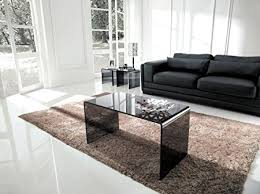 Modena Bent Glass Coffee Table Nest Of Tables Smoked 46 H X 86 W