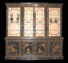 Break Front Bookcase Black Chinoiserie Breakfront Bookcase For Sale Antiques Com