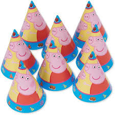 peppa pig party peppa pig party hats 8ct walmart