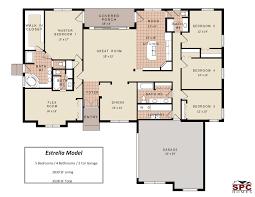 house plans 5 bedrooms 5 bedroom one floor plans home design