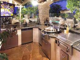 Cute Cabinet Outdoor Kitchen Beautiful White Concrete Grill Island Amazing