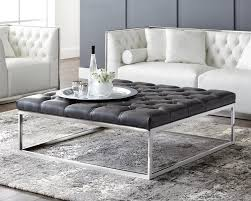 large leather tufted ottoman coffee table big square ottoman ottoman cocktail coffee table