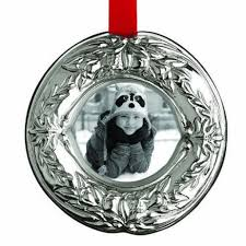 reed barton wreath sterling silver picture frame ornament