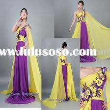 wedding dresses with purple detail purple and yellow dress in fashion collection fashion gossip