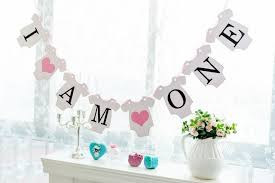 1st birthday party decorations at home new arrival 1 x i am one banners kids baby boy girl 1st birthday