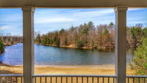 your lakefront house around this covered porch