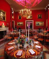 red dining room ideas with elegant dinner party with gold