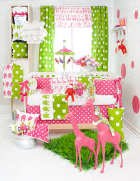 Bright Pink Crib Bedding by Inspiration Pink And Green Bedding Cute Interior Home