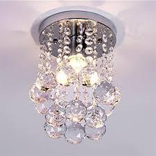 Chandelier Light For Girls Room Amazon Com Mini Modern Crystal Chandeliers Flush Mount Rain Drop
