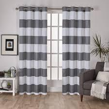 Black And White Striped Curtain Panels Amazon Com Lush Decor Stripe Room Darkening Window Curtain 84 By