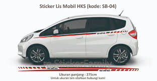 mobil honda jazz jual sticker cutting list body hks honda jazz side stripe mobil
