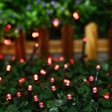 Red Solar Lights by Amazon Com Qedertek Christmas Solar String Lights 33ft 100 Led