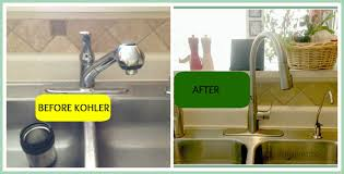 kohler kitchen faucet installation simplice faucet install the kitchen faucet with the bold look of