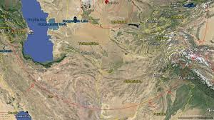 Aral Sea Map The Seismic Circles Of The Aral Sea Meteor Impact