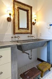 Galvanized Bathroom Lighting Galvanized Water Trough Vogue Denver Rustic Bathroom Inspiration