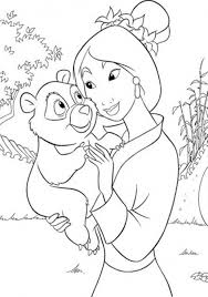 mulan coloring pages and panda coloringstar