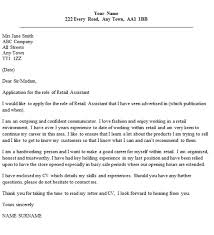 sample cover letter for retail position how to write a