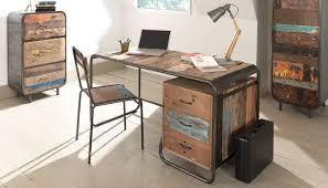 mobilier bureau maison idée caisson de bureau vintage