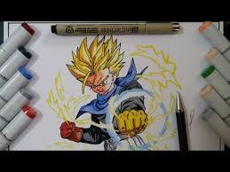dibujando trunks draw trunks ssj dragon ball gt dibujo