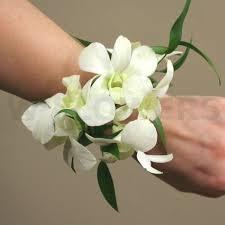 white dendrobium orchids white dendrobium orchid wrist corsage dg dubon