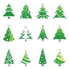 christmas tree logos vector 12 green vector christmas tree