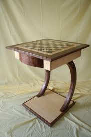 maple u0026 walnut chess table finewoodworking