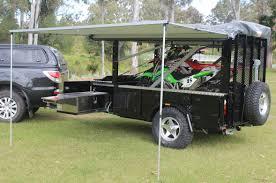 motocross bike setup motorbike camper trailer mx campers