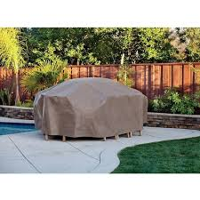 Round Patio Table Covers by Lovable Round Patio Table Cover From Brown Waterproof Material