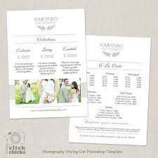 wedding photographer prices price list brochure template best 25 price list ideas on