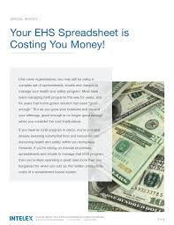 Money Spreadsheet Your Ehs Spreadsheets Are Costing You Money Whitepaper Intelex