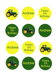 deere cake toppers deere birthday party cupcake toppers set of 12 digital