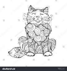 hand drawn ink doodle cat on stock vector 424155982 shutterstock
