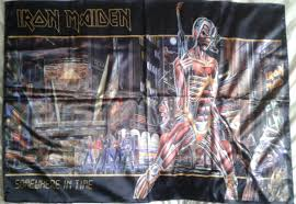 Iron Maiden Flag Iron Maiden Somewhere In Time Flag Cloth Poster Wall Tapestry