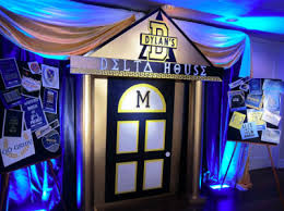 Decor With Accent Fun Decor With Blue Uplighting For Bidday Greeklife