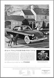 vintage porsche ad why the ford thunderbird is one of the most important cars ever