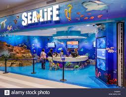 Ticket Desk Ticket Desk At The Sea Life Aquarium In The Mall Of America Stock