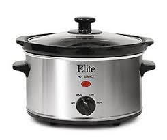 elite cuisine elite cuisine mst 275xs maxi matic 2 quart oval cooker silver
