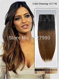 14 inch hair extensions online shop 14 inch two tone ombre clip on hair