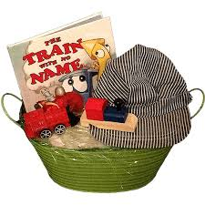 book gift baskets aboard for an enjoyable ride with a gift bakset for kiddos