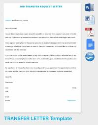 Transfer Request Letter In Bank 33 transfer letter templates free sle exle format free